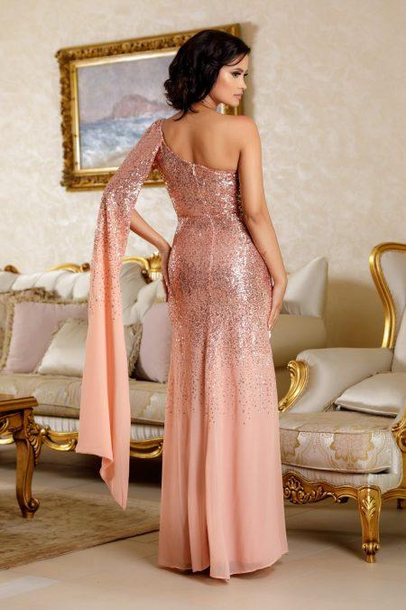 Julietta Ροδακινί Φόρεμα 4803