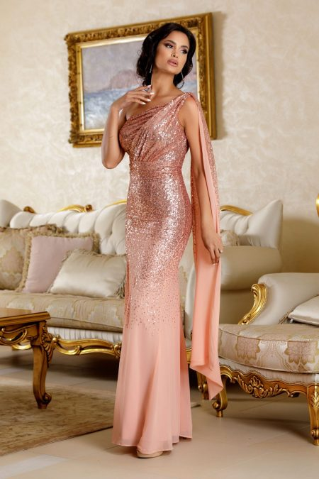 Julietta Peach Dress