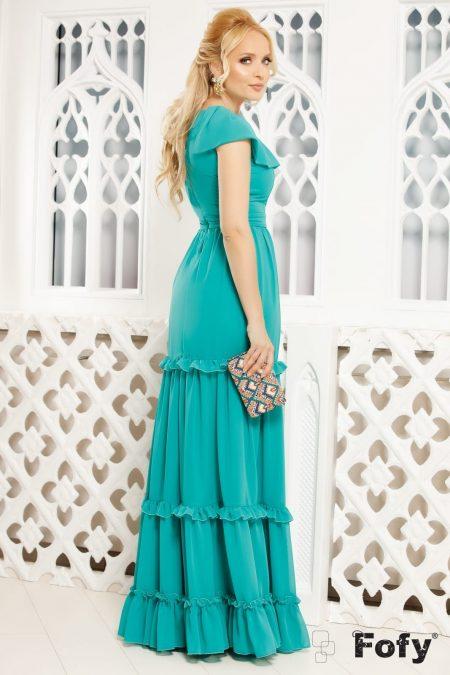 Rapsody Τυρκουάζ Φόρεμα 4807