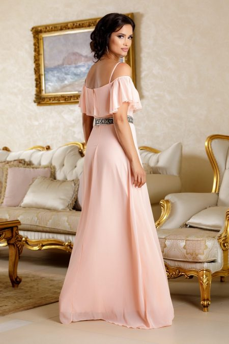 Carolyne Ροδακινί Φόρεμα 4834