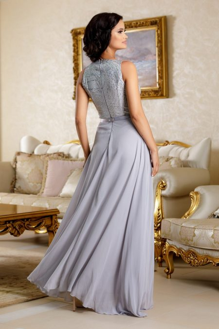 Flaminia Γκρι Φόρεμα 4826
