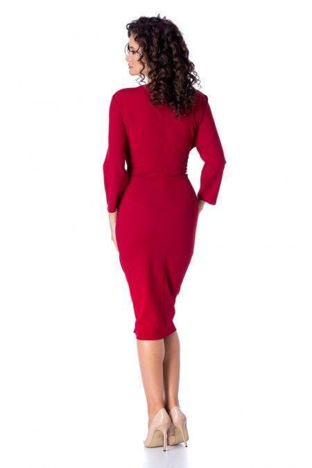 Μπορντό Φόρεμα Irini 4688
