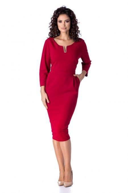Irra Μπορντό Φόρεμα 4688