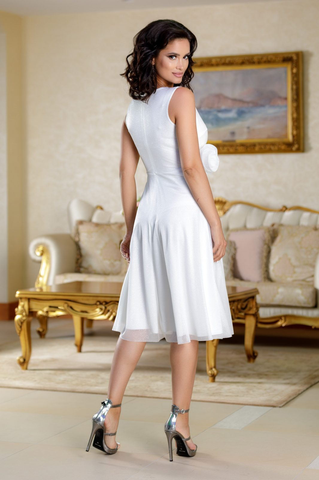 Rosalinda Άσπρο Φόρεμα 4699
