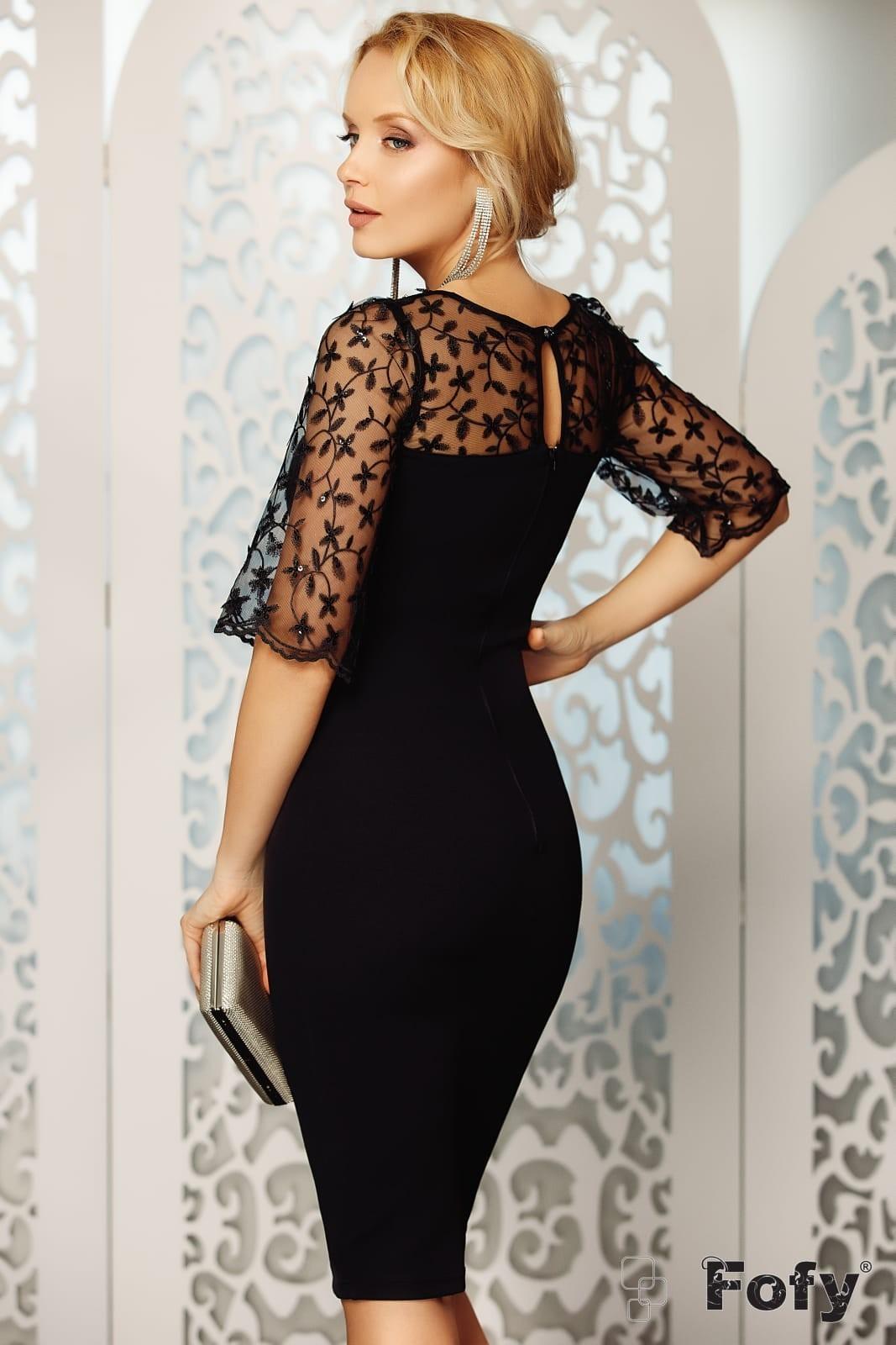 Salima Μαύρο Φόρεμα 4691
