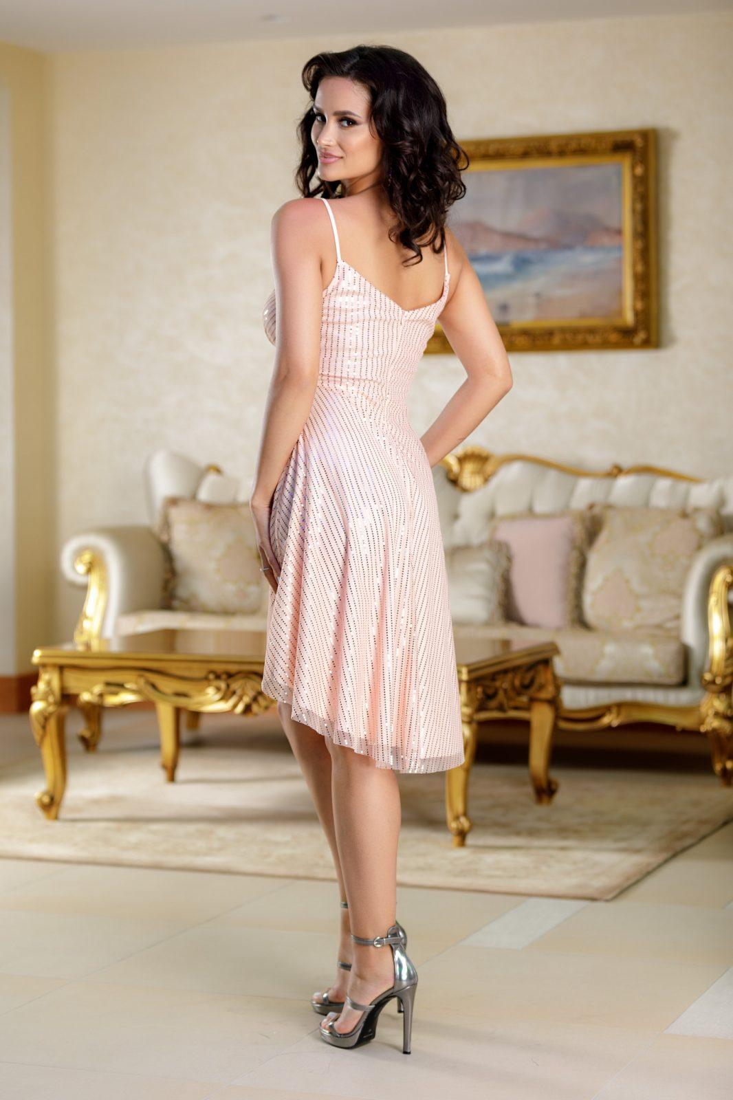 Meryem Ροζ Φόρεμα 4837