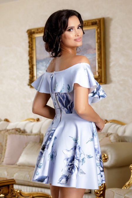 Ynna Γαλάζιο Φόρεμα 4782