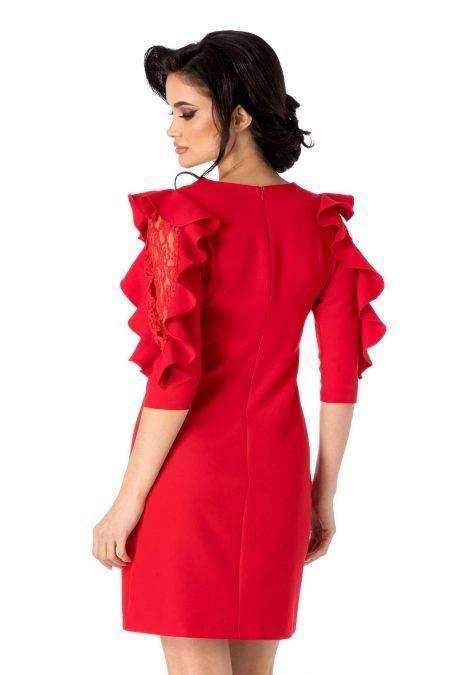 Lleen Κόκκινο Φόρεμα 4684