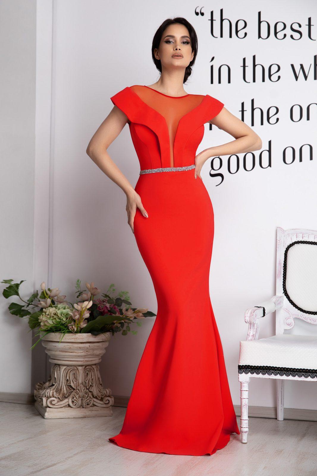 Vibrating Red Dress
