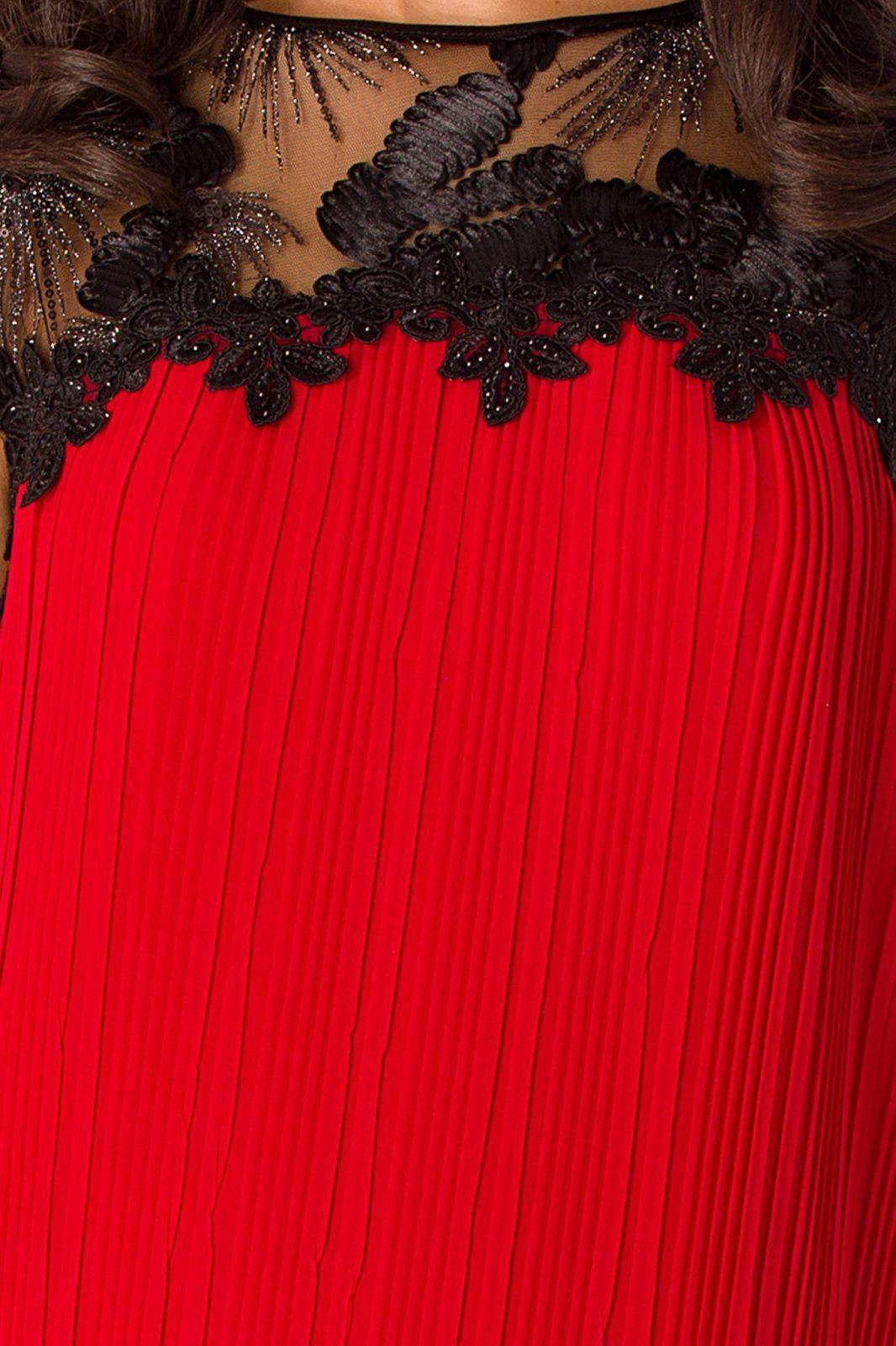 Midi Κόκκινο Φόρεμα Nina 4959