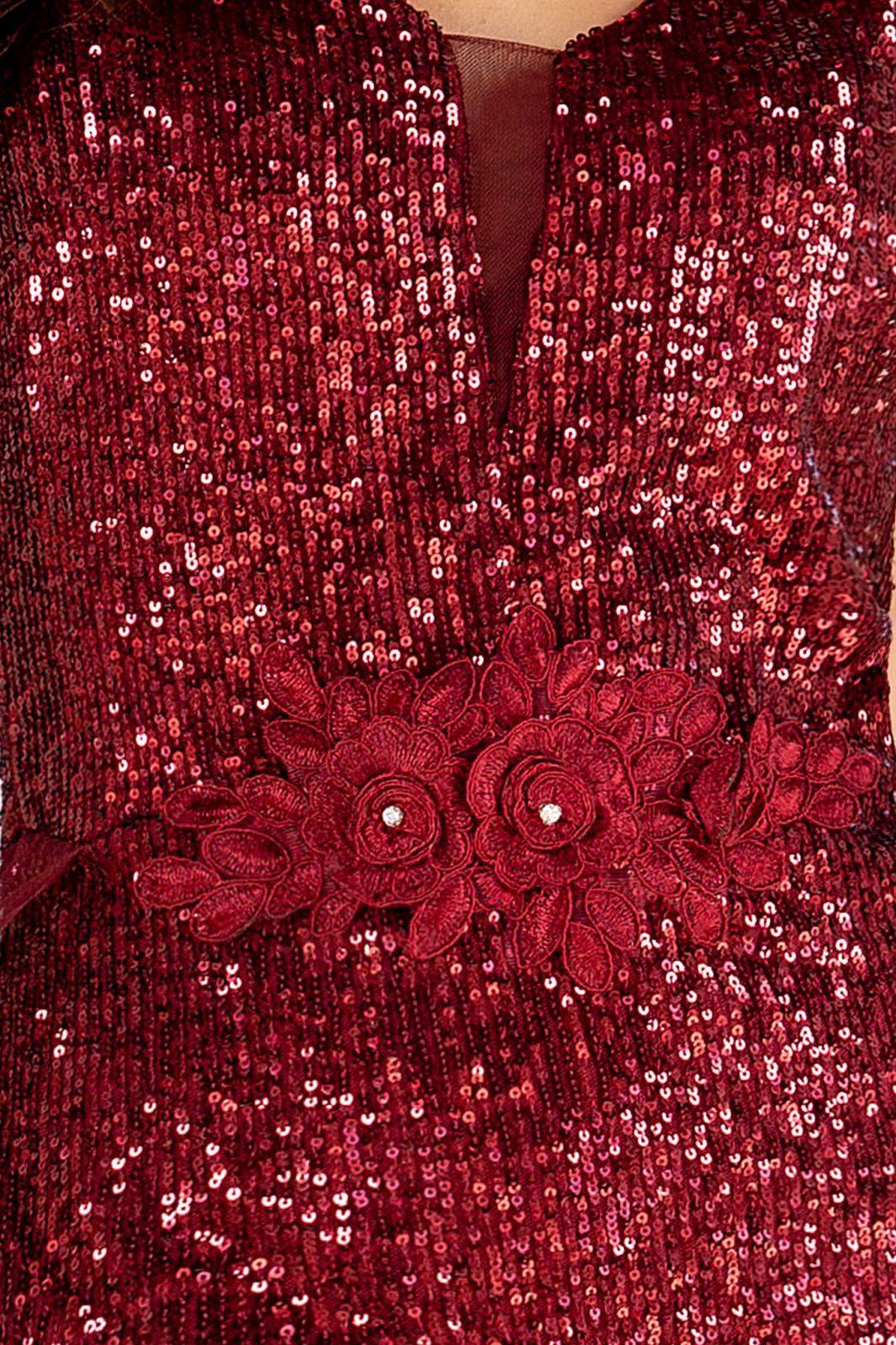 Amanda Μπορντό Φόρεμα 4888
