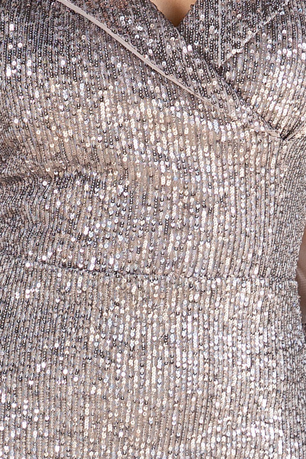 Jersey Ασήμι Φόρεμα 4882