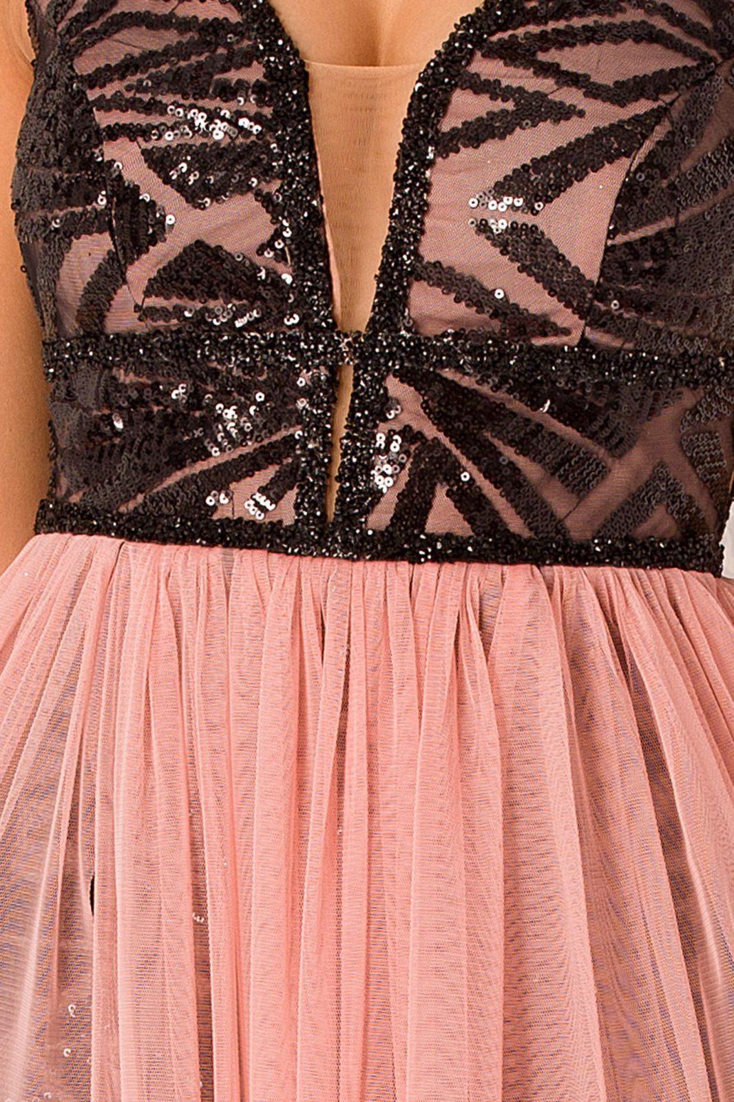 Ροζ Αμπιγιέ Φόρεμα Izza 4989 4