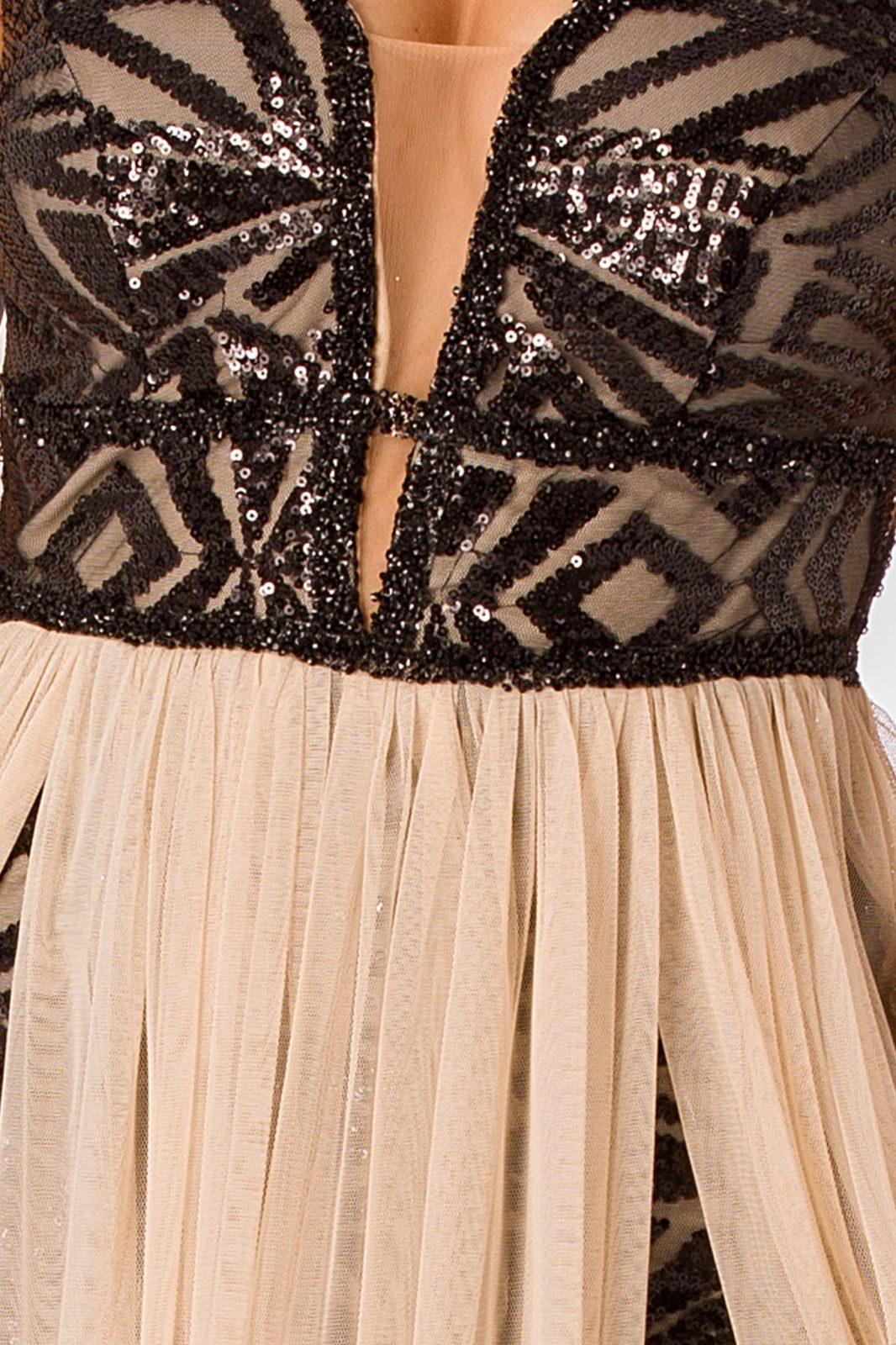 Nude Αμπιγιέ Φόρεμα Izza 4988 5