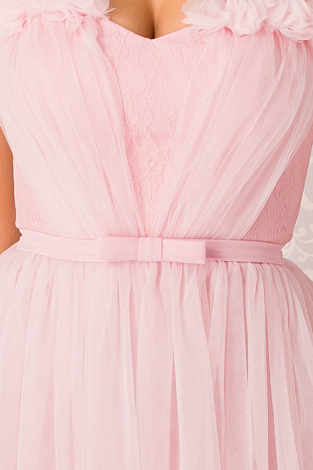 La Donna Anastasia Maxi Ροζ Φόρεμα 4966