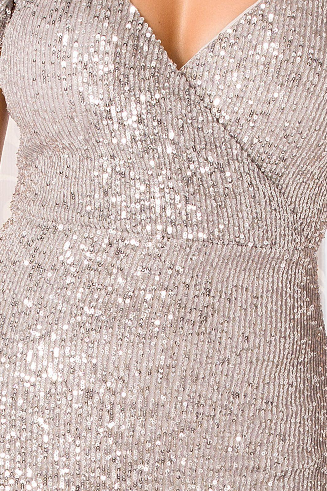 Cherish Maxi Ασημί Φόρεμα 4947