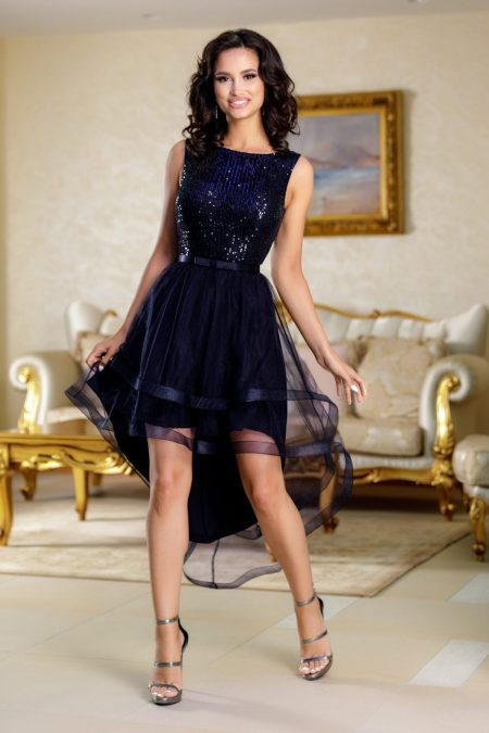 Queeny Navy Dress
