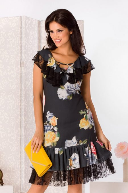 La Donna Mellya Floral Dress