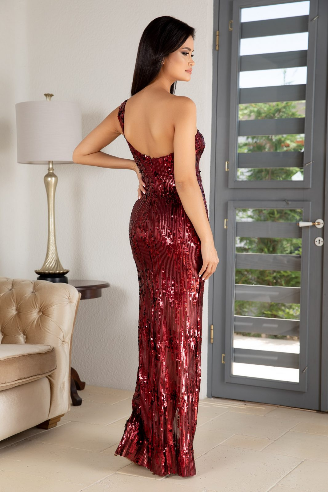 Tiarra Μπορντό Φόρεμα 4878