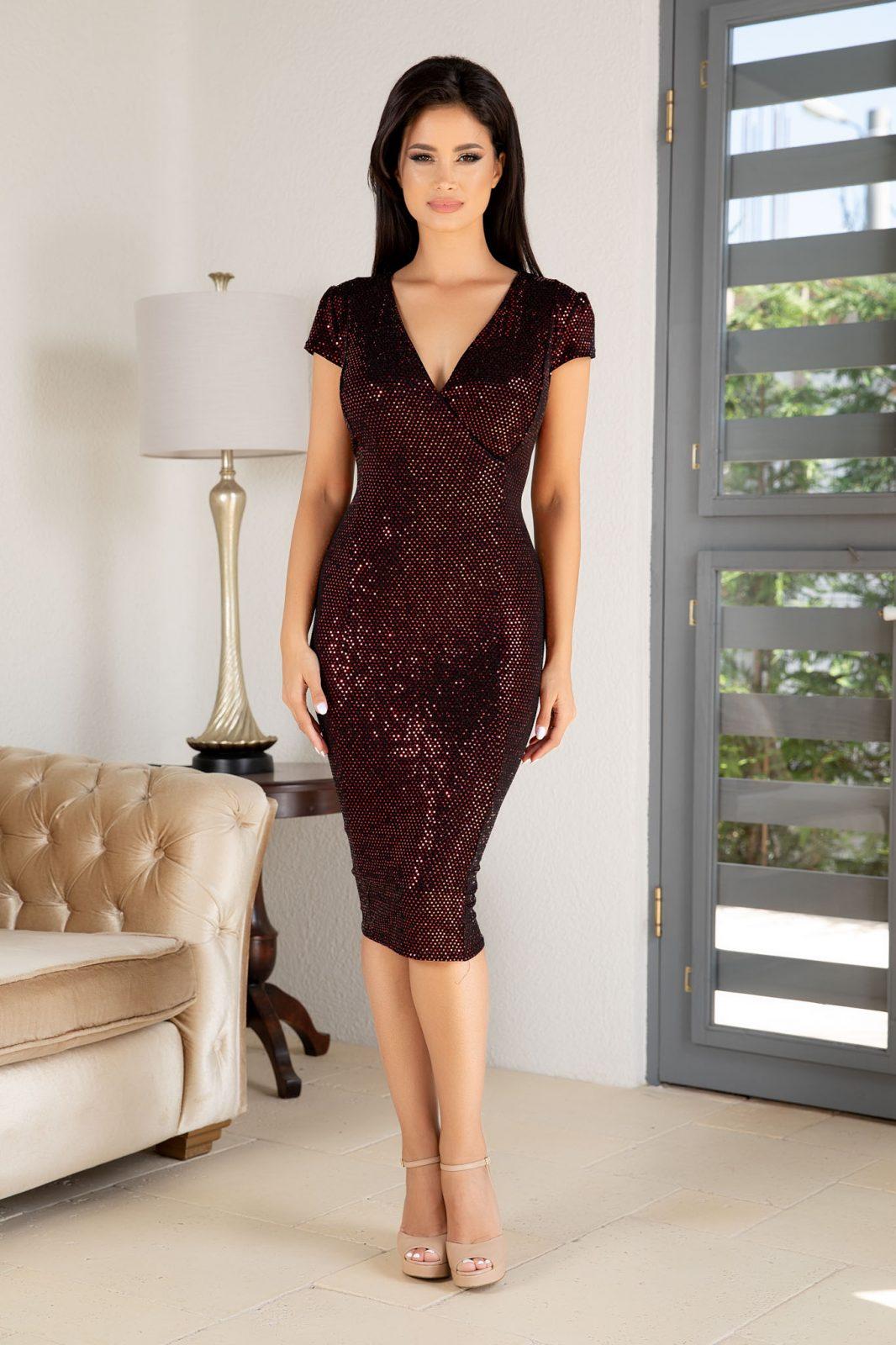 Olivia Μπορντό Φόρεμα 4875