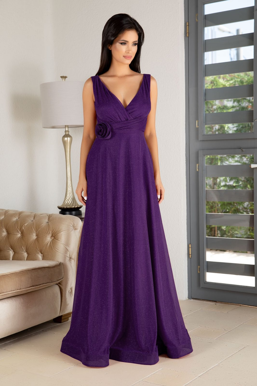 La Donna Catalyna Purple Dress