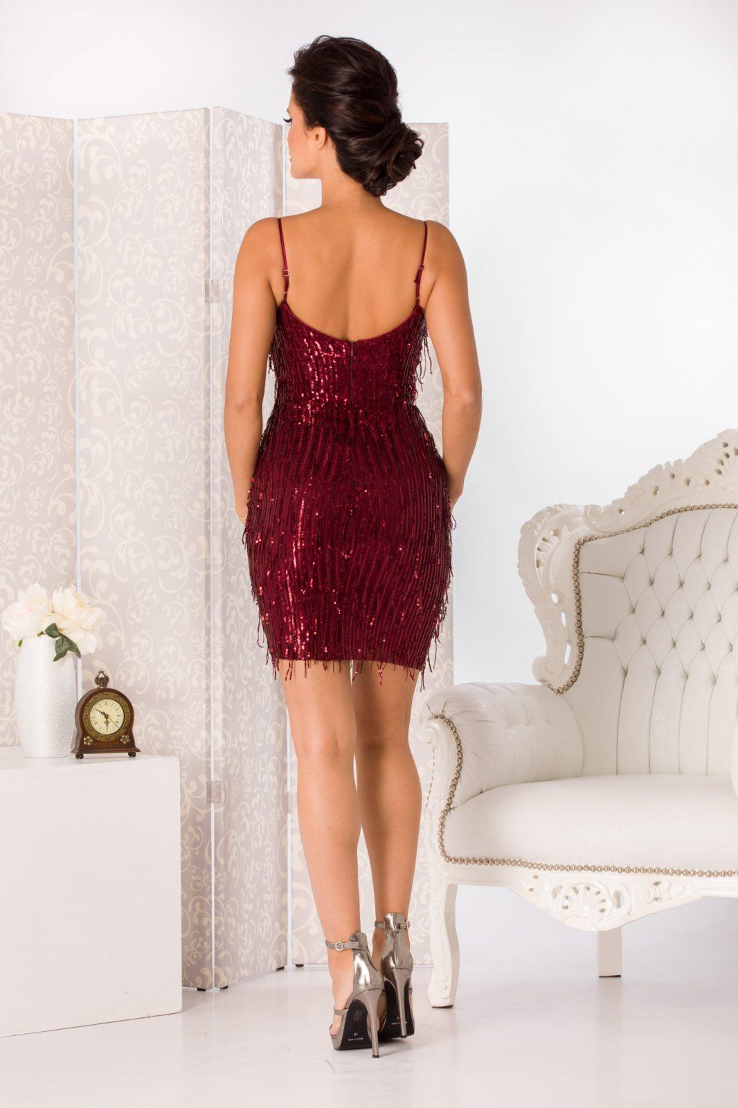 Spicy Mini Μπορντό Φόρεμα 4949 1