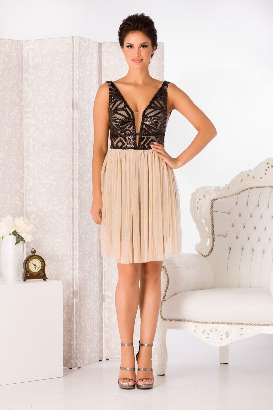 Nude Αμπιγιέ Φόρεμα Izza 4988 4