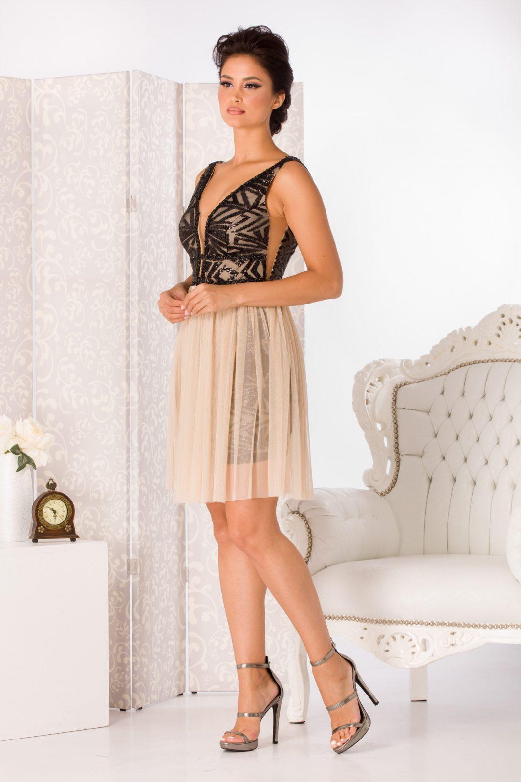 Nude Αμπιγιέ Φόρεμα Izza 4988 3