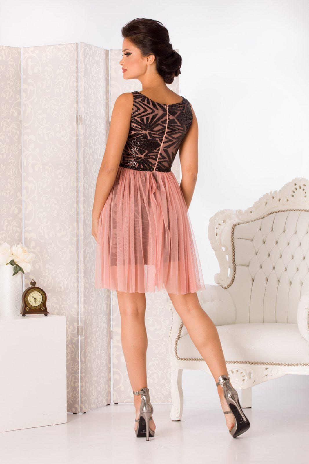 Ροζ Αμπιγιέ Φόρεμα Izza 4989 2