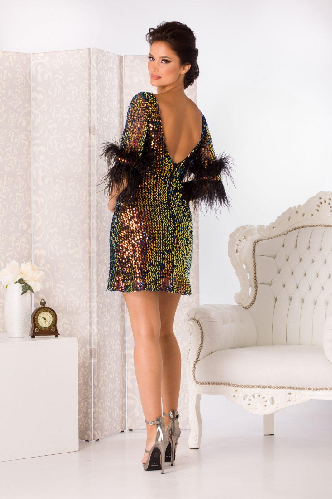 Gwenith Mini Μαύρο Φόρεμα 4944