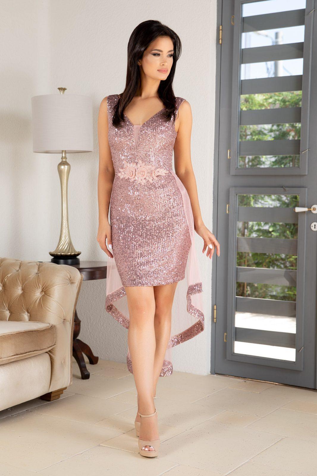 Amanda Ροζ Φόρεμα 4889