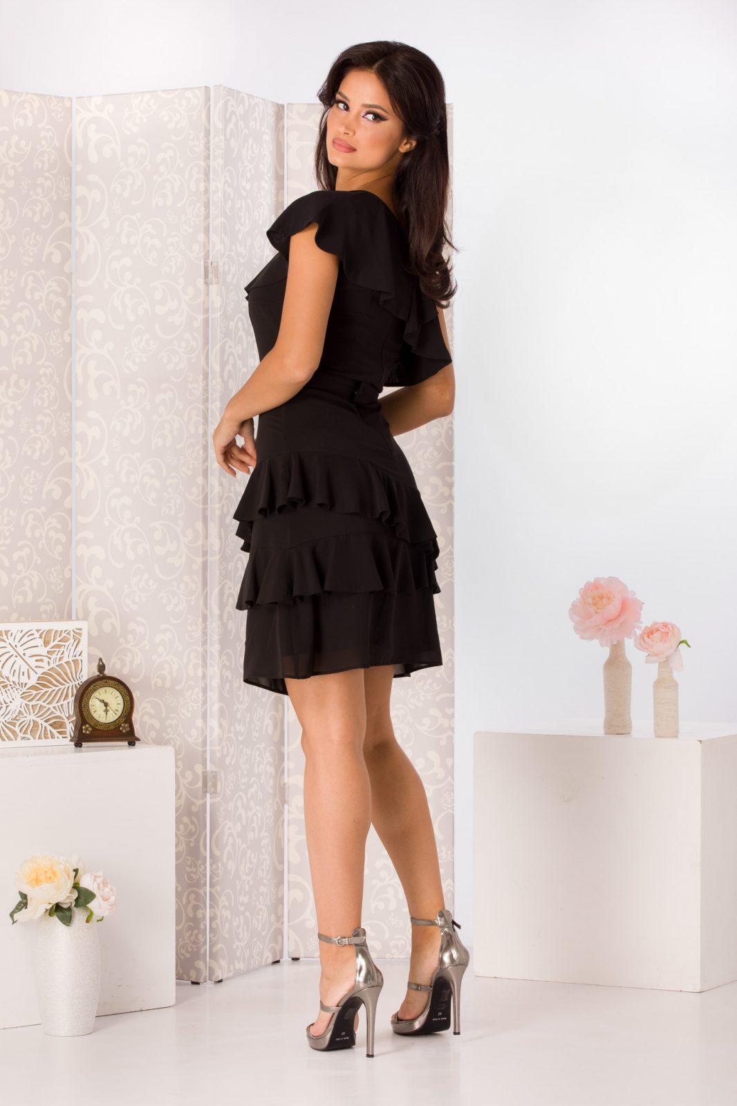 La Donna Jennifer Μαύρο Φόρεμα 4969