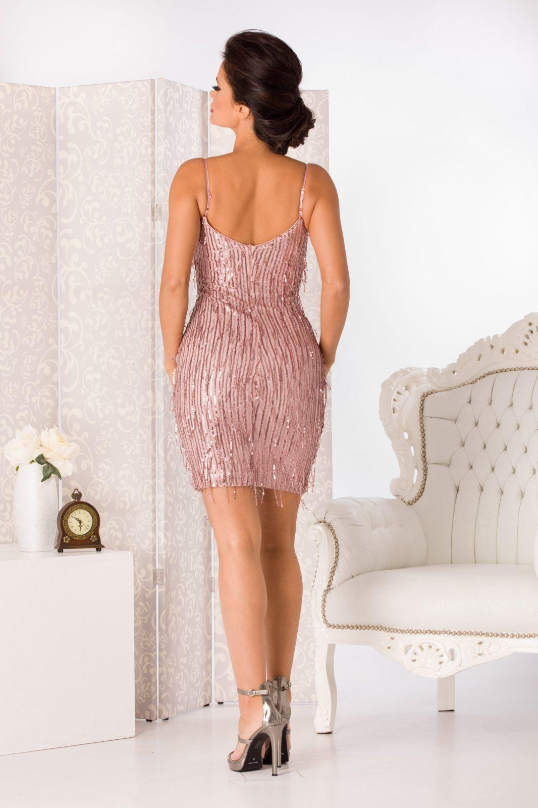 Spicy Midi Ροζ Φόρεμα 4948