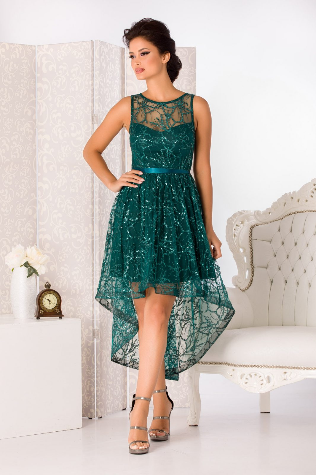 Lorette Green Dress