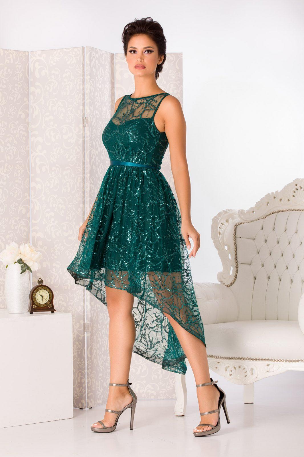 Lorette Midi Πράσινο Φόρεμα 4955