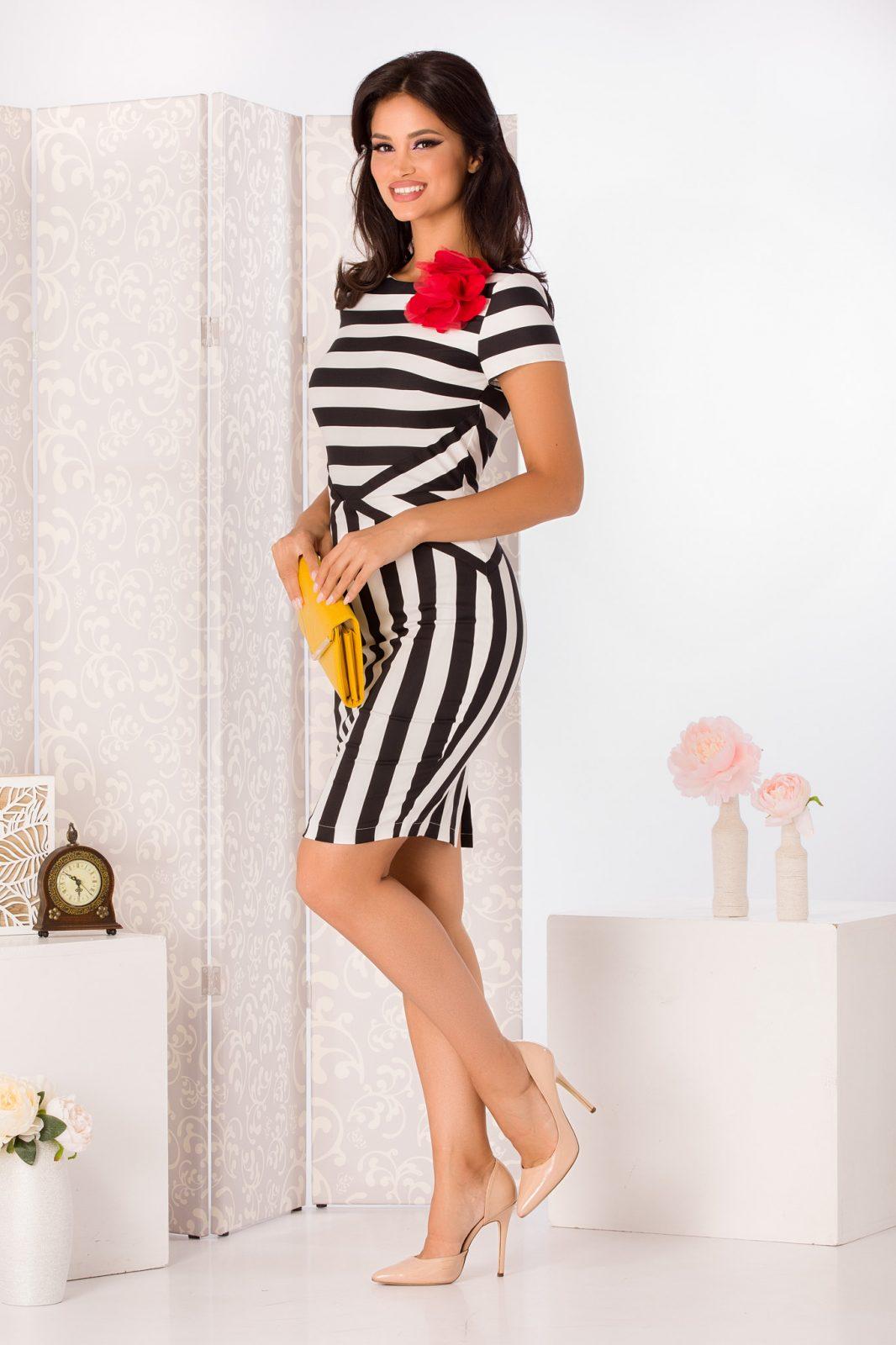 La Donna Mathilde Ριγέ Φόρεμα 4968