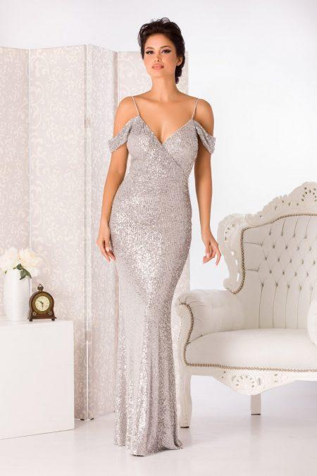 Cherish Silvery Dress