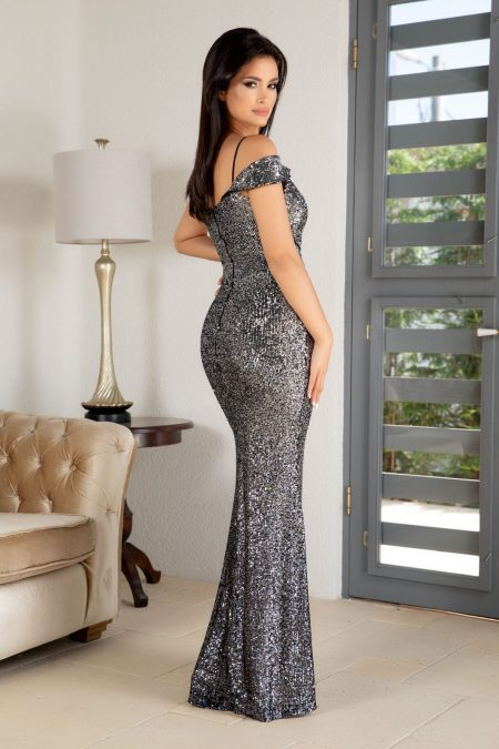Sensual Γκρι Φόρεμα 4873