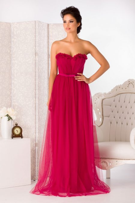 La Donna Anastasia Marsala Dress