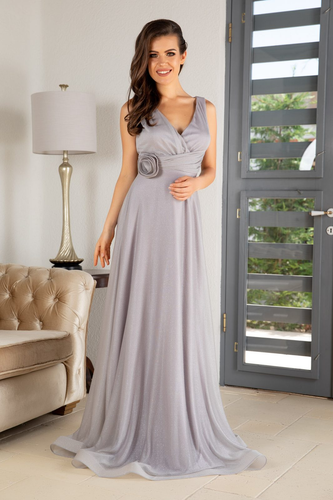 La Donna Catalyna Gray Dress