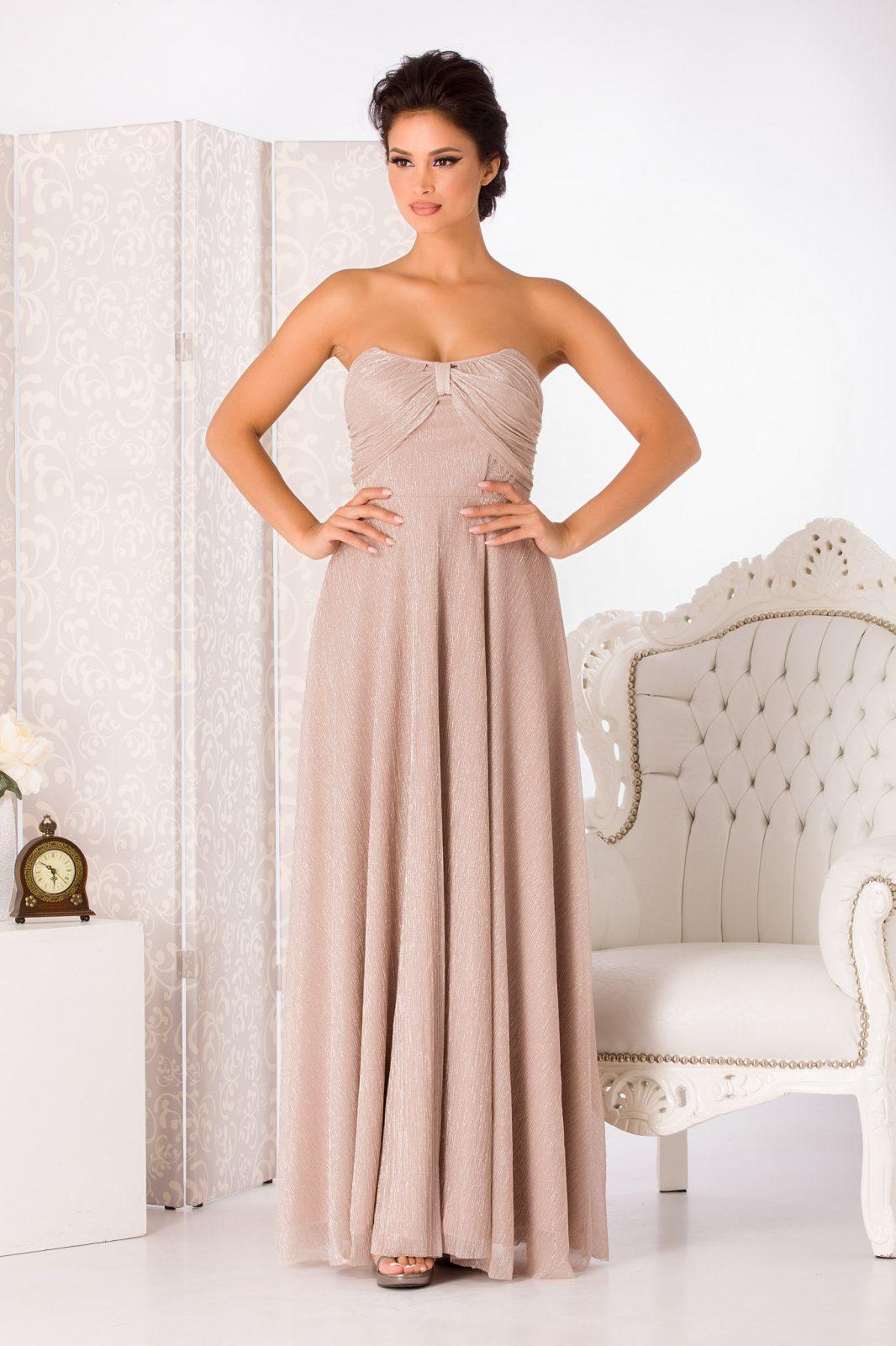 Anais Maxi Ροζ Φόρεμα 4982 2