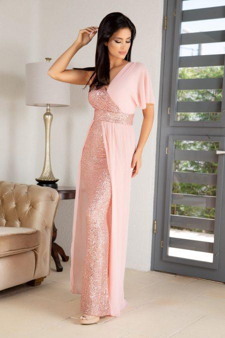 Pandora Ροδακινί Φόρεμα 4891