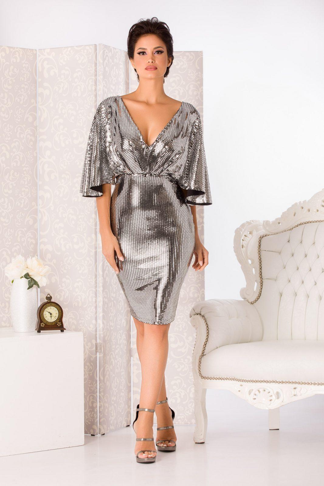 Herra Midi Ασήμι Φόρεμα 4992