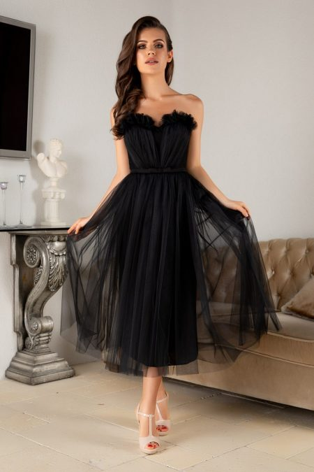 La Donna Dhalia Black Dress
