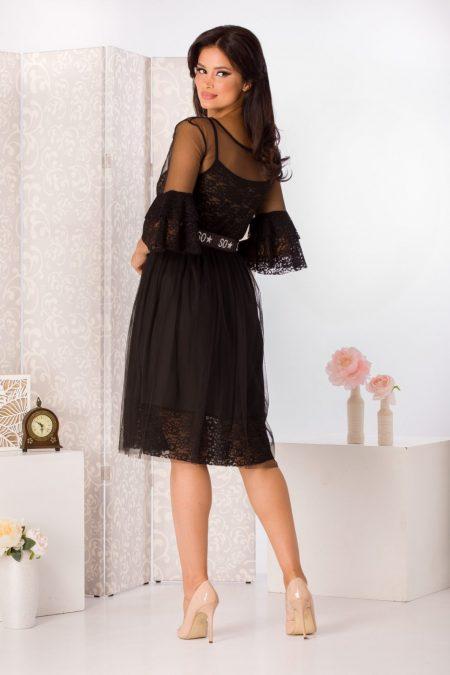 Grazzia Μαύρο Φόρεμα 1237