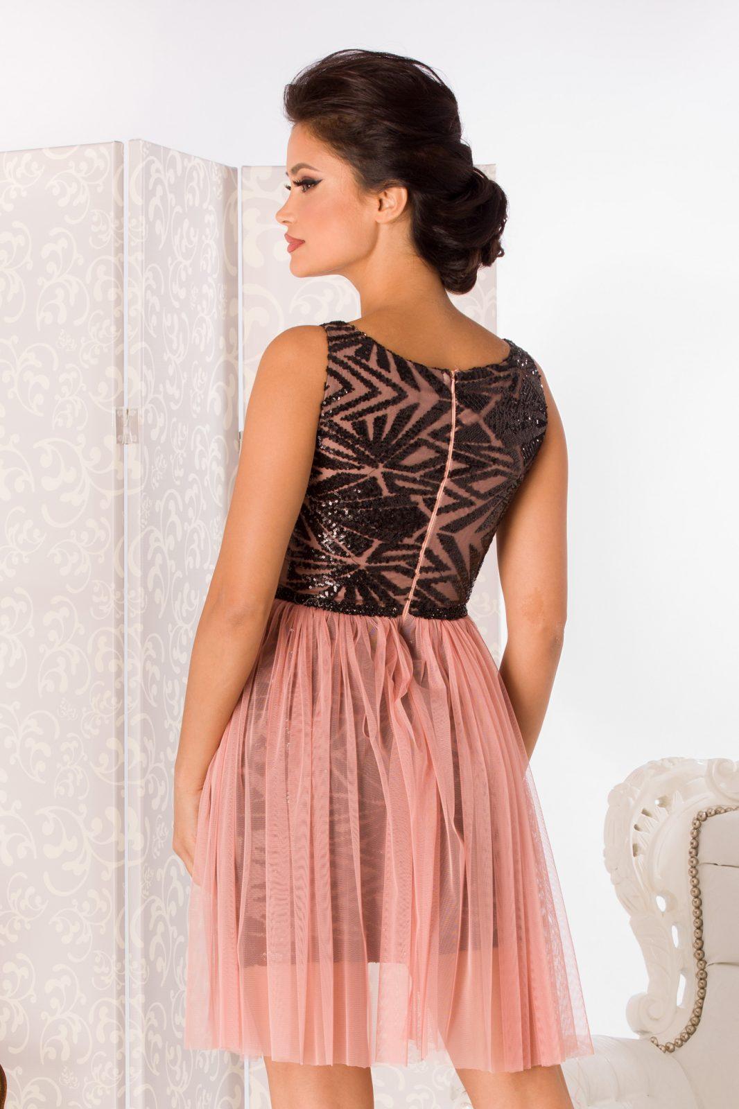 Ροζ Αμπιγιέ Φόρεμα Izza 4989 5
