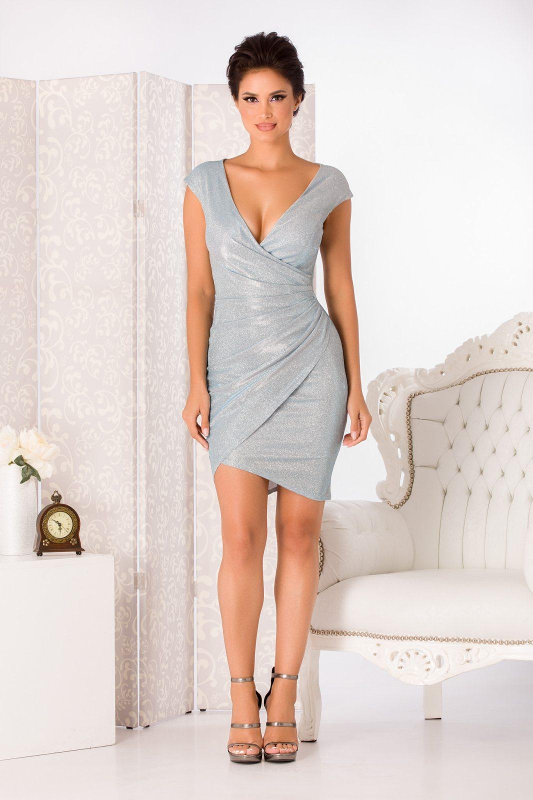 Flame Midi Γαλάζιο Φόρεμα 4979