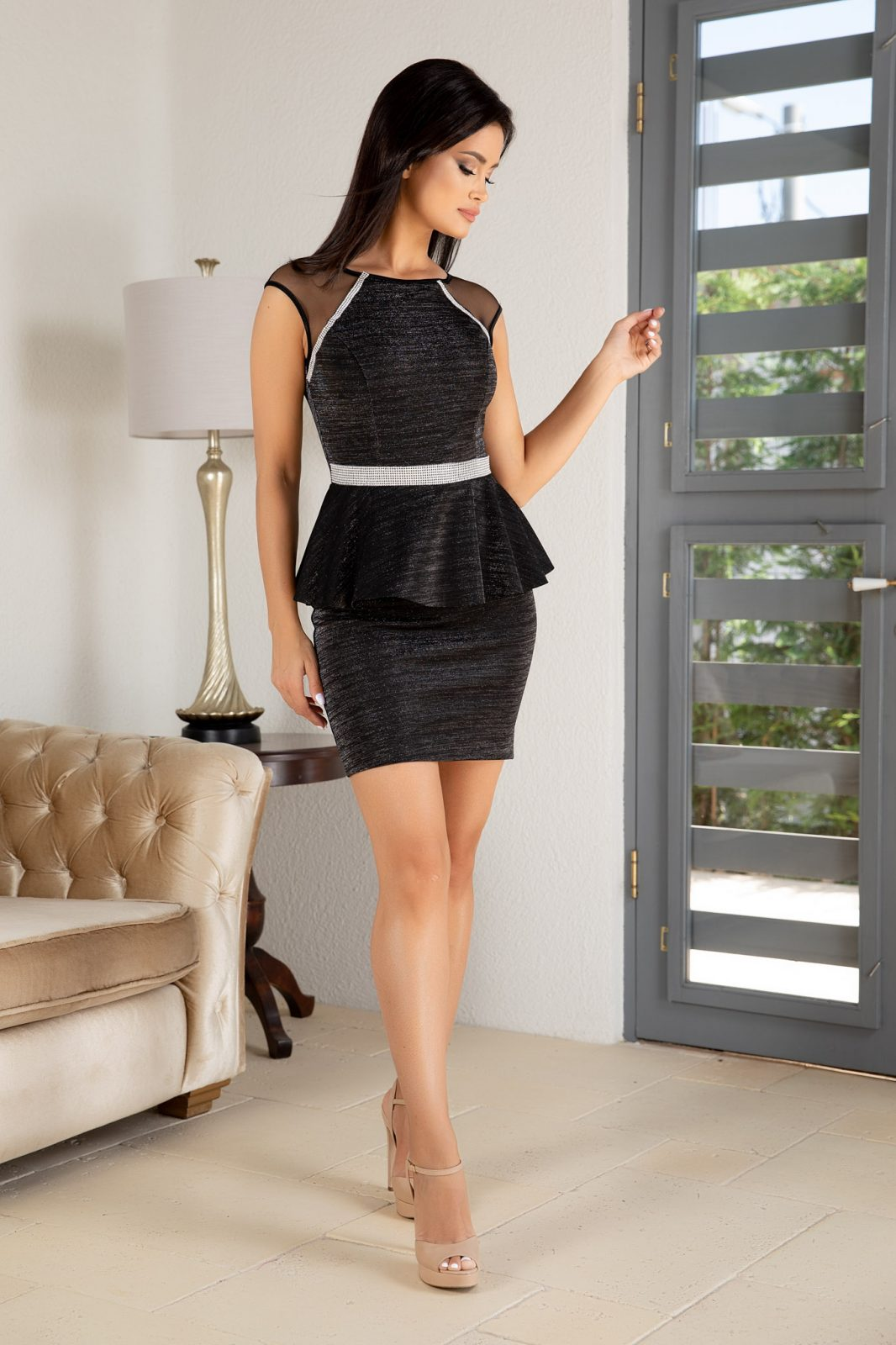 Kasilda Μαύρο Φόρεμα 4862