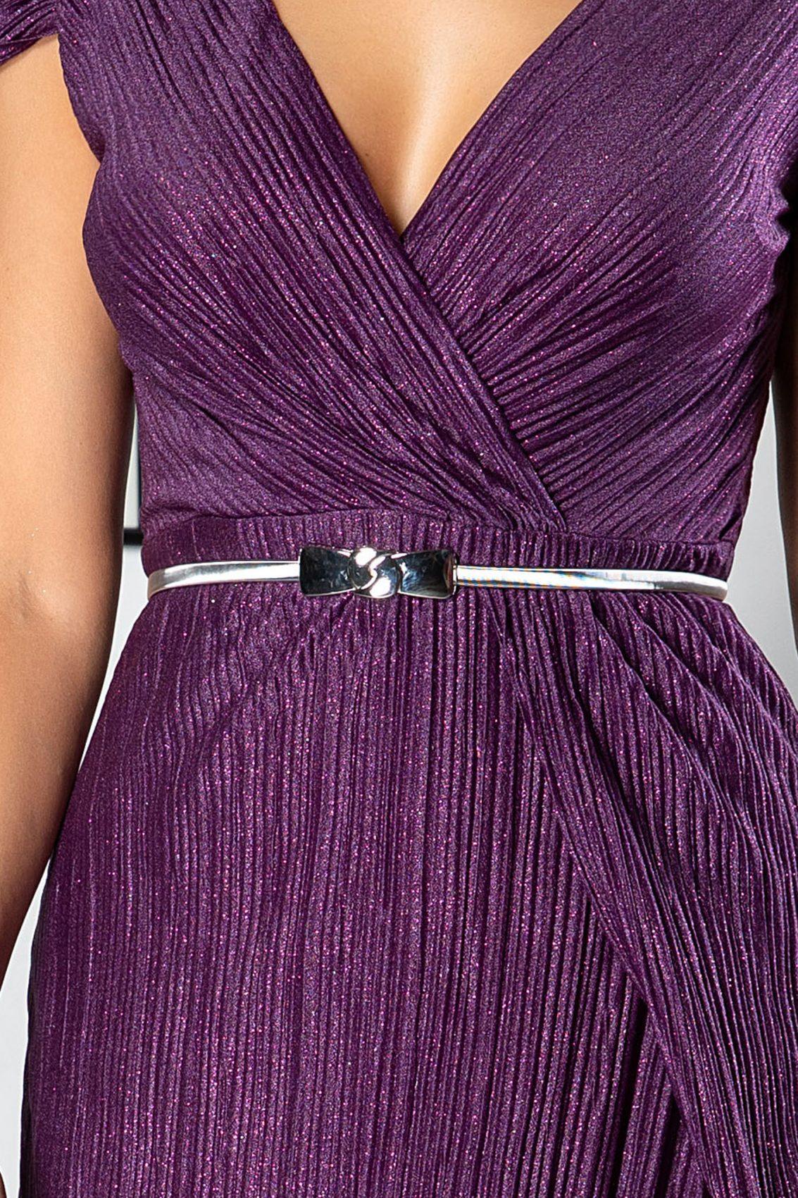 Cleopatra Midi Βιολετί Φόρεμα 5019