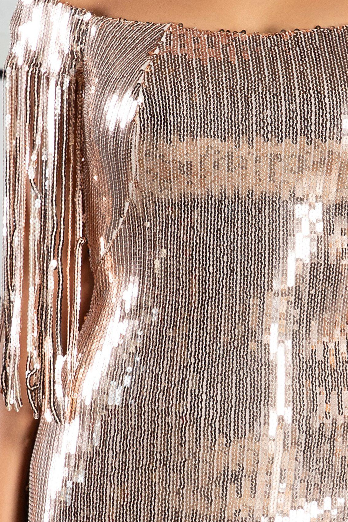 Rubina Χρυσό Φόρεμα 5071